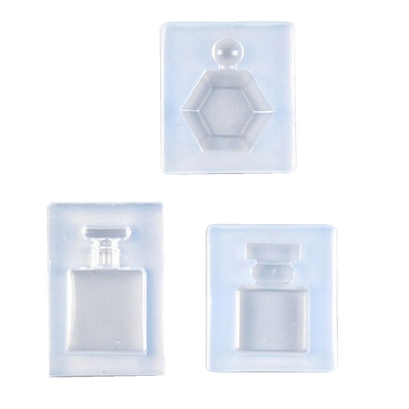 Perfume Bottle Pendant Keychain Mold Resin Casing Craft Jewelry Making Tools