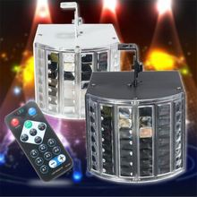 New Arrival 6W LED RGB Auto/Sound Control DMX512 Strobe Effect Stage Lighting DJ Disco Bar Party 7 Channel With Remote AC90-240V