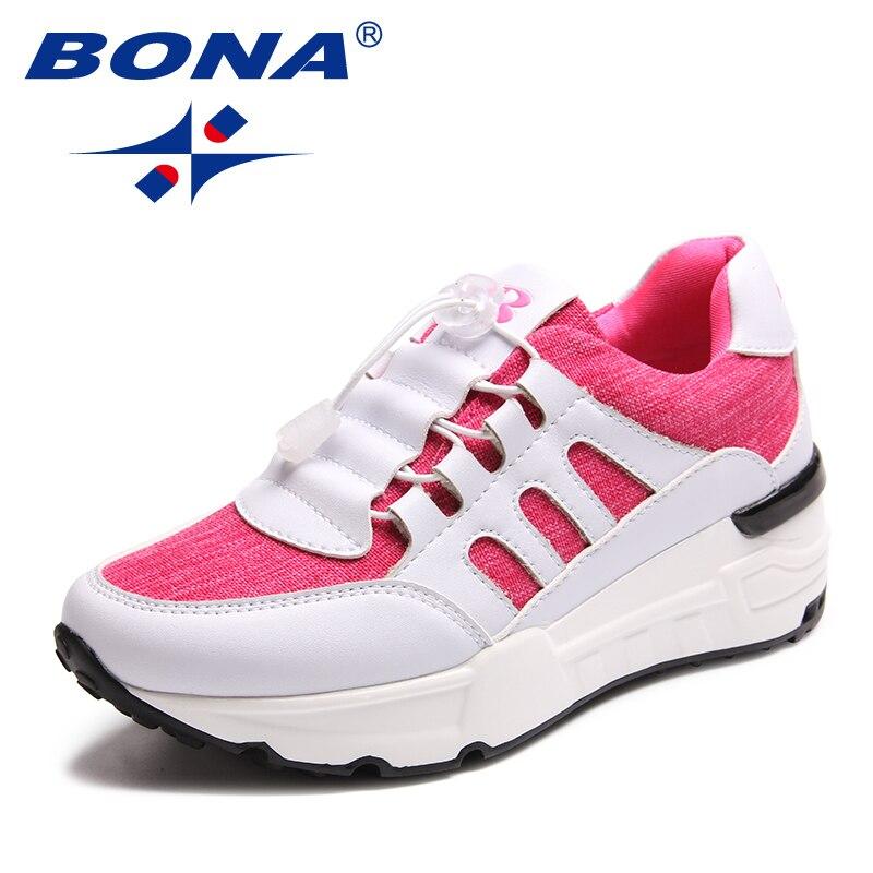 BONA nouveauté classiques Style femmes chaussures de marche à lacets femmes chaussures de Sport en maille en plein air Jogging baskets livraison gratuite rapide