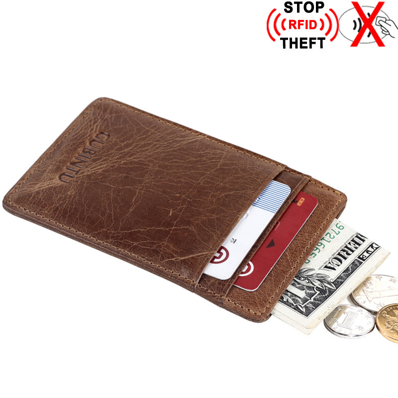 ∞Ultrathin Credit Card Holder Men Genuine Leather Business Rfid ...