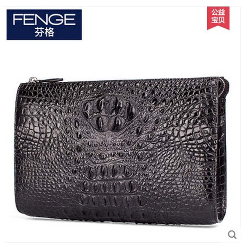 Fenge crocodile leather men bag men clutch bag business crocodile handbag leather large business casual men bag мужские часы citizen ca0288 02e