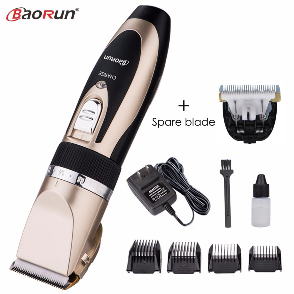 Professional Electric Hair Clipper Rechargeable Hair Trimmer for Men Child Hair Cutting Machine Fast Charging With Spare Blade professional powerful speed hair clipper rechargeable hair trimmer for men electric cutter machine hair clipper with comb