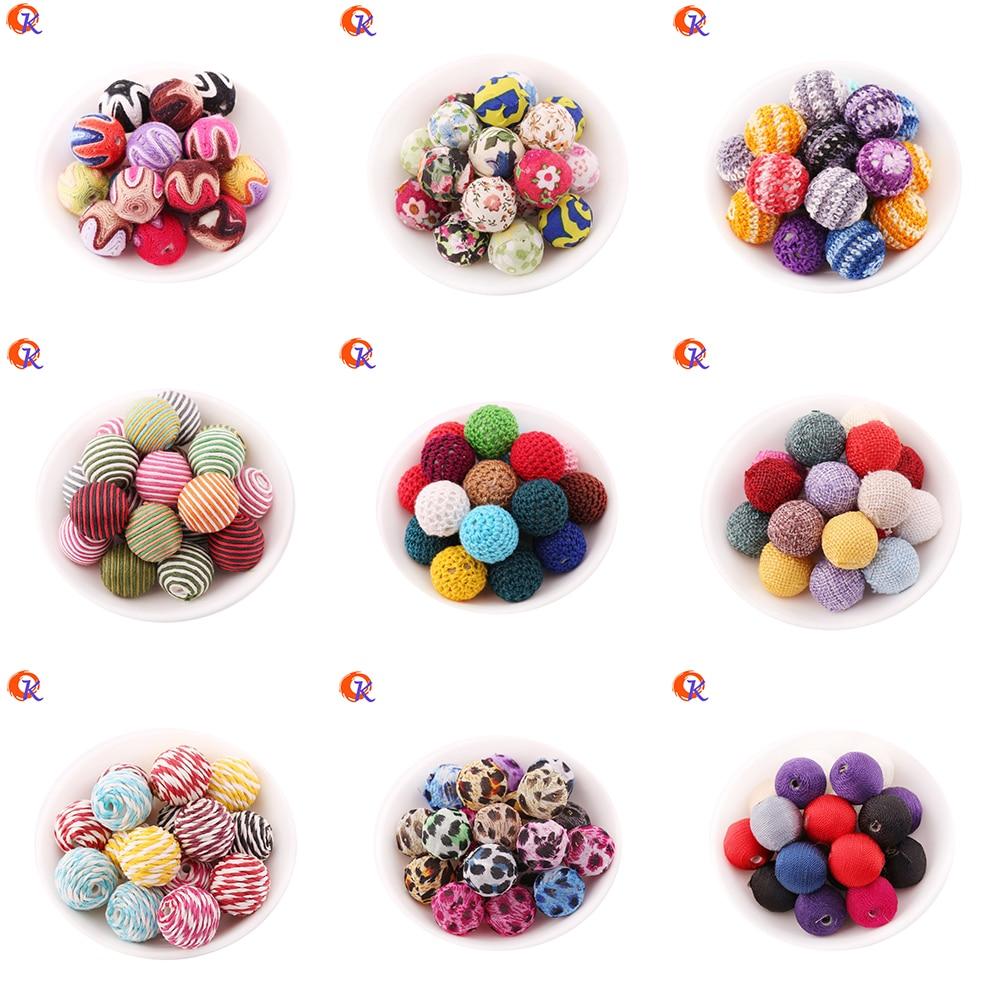 Handmade Plastic Bead Accessories 20MM 100Pcs/Lot Gumball Bubblegum Jewelry Beads Crochet Beads Chevron Wrapped Jewelry Bead