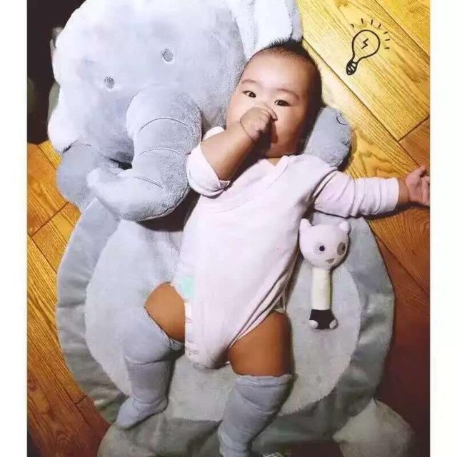 Dormir pad juego de niños decoración de la habitación alfombra de felpa zorro lindo muselina swaddle newborn fotografía atrezzo manta de bebé Elefante
