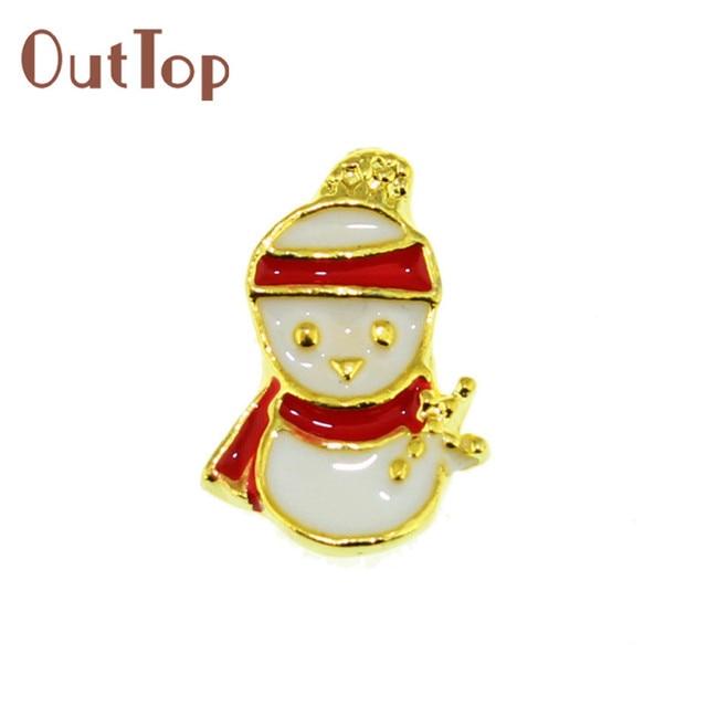 2017 big sell !! 10PCs Christmas Gadget Alloy 3D Rhinestone Nail Art ...