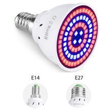 E27 Grow Light Bulb E14 LED Growing Lamp GU10 Full Spectrum LED Phyto Light MR16 Indoor LED Plant Growth Lamp 220V B22 Fitolampy