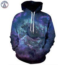 Mr.1991INC New Fashion Space Galaxy Hoodies Men/Women Sweatshirts 3d Print Blue Sea Waves Thin Tracksuits Tops Pullovers