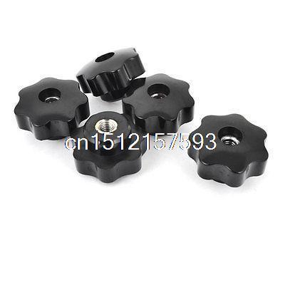 40mm de Diâmetro Da Cabeça 8mm de Diâmetro Rosca Fêmea Através Do Botão Estrela De Fixação 5 Pcs