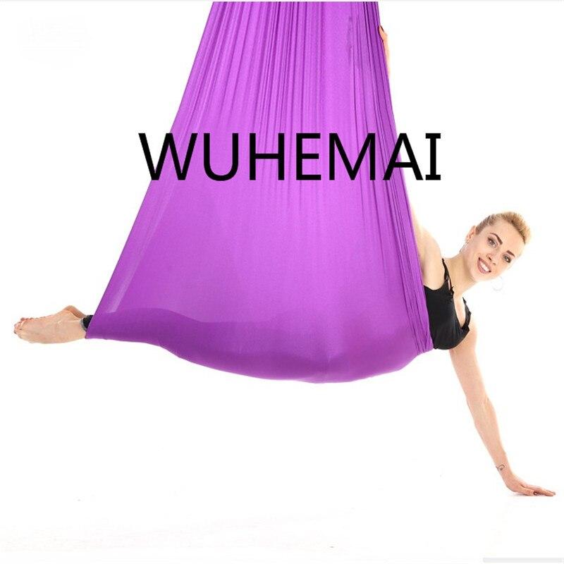 Wuhemai 10 metros yoga hamaca columpio tela de tracción aérea vuelo antigravedad longitud personalización cinturón de yoga del yoga hall