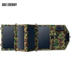 GGX الطاقة 8 واط المحمولة شاحن للطاقة الشمسية للهاتف المحمول آيفون للطي أحادية الألواح الشمسية طوي الشمسية USB شاحن بطارية