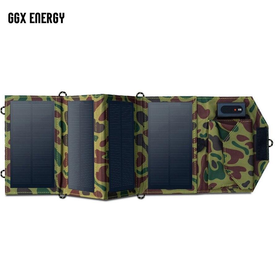 GGX 8W De ENERGIA Portátil Carregador Solar Para O Telefone Móvel IPhone Dobrável Mono Painel Solar Dobrável + USB Bateria Solar Carregador