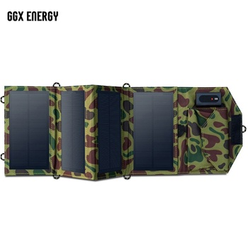 цена на GGX ENERGY 8W 20W Portable Solar Charger for Mobile Phone iPhone Folding Mono USB Solar Panel+Foldable Solar Battery Charger