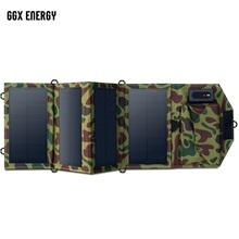 GGX ENERGY 8W przenośna ładowarka słoneczna do telefonu komórkowego iPhone składany Panel słoneczny Mono + składana ładowarka słoneczna USB tanie tanio NoEnName_Null 150x80mm ggx-f8w4 Monokryształów krzemu 19 6V*1 2A(max) 545*170*10mm 170*105*30mm PET laminated+PVC 0 3KG