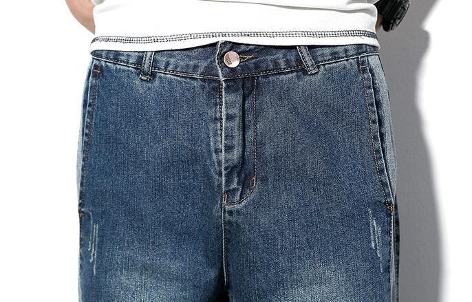 #1490 Yeqedu Spring2018 Hip hop jeans Loose Side stripe Harem jeans homme Mid-waist Plus size Streetwear Denim pants men Vintage
