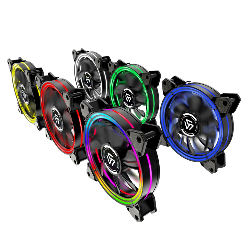 ALSEYE RGB Fan Adjustable PC Fan 120mm Cooling Fans (3pieces/set) Reset Key Control (HALO 3.0 New Arrivel)-in Fans & Cooling from Computer & Office    2