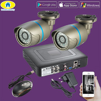 Golden Security 4CH 720P AHD DVR Waterproof CCTV Surveillance Security Camera Day Night IR Cut