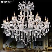 Luxury Crystal Chandelier Lighting Fixture Light Hotel Restaurant Lustres Lights Luminaries Lamp Maria Theresa