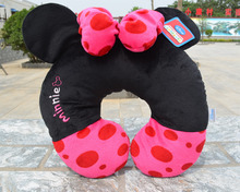 Minnie Mouse U Shaped Pillow Neck Support for Car Airplane Travel Pillow Free Shipping