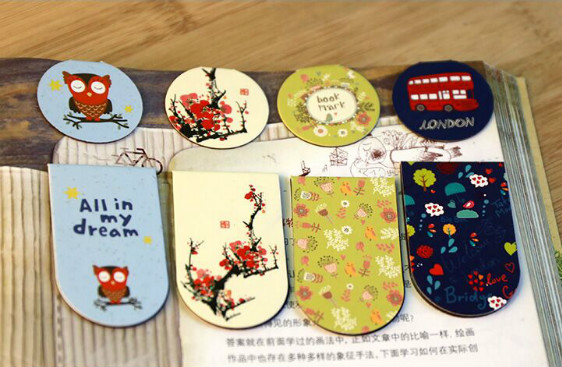Aliexpress.com : Buy 2pce/lot cartoon magnetic paper clips cute ...