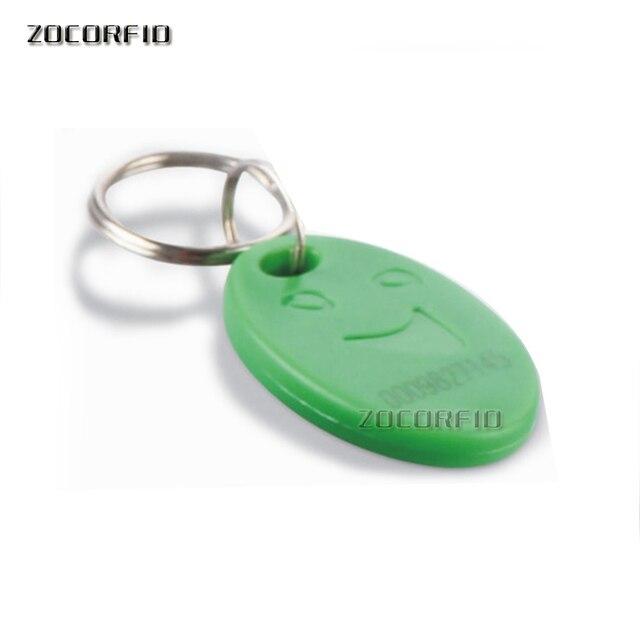 100 pièces/lot 5 # RFID 125 khz EM4100 porte-clés porte-clés anneau puce Keytab TK4100 étiquettes 125 khz en lecture seule