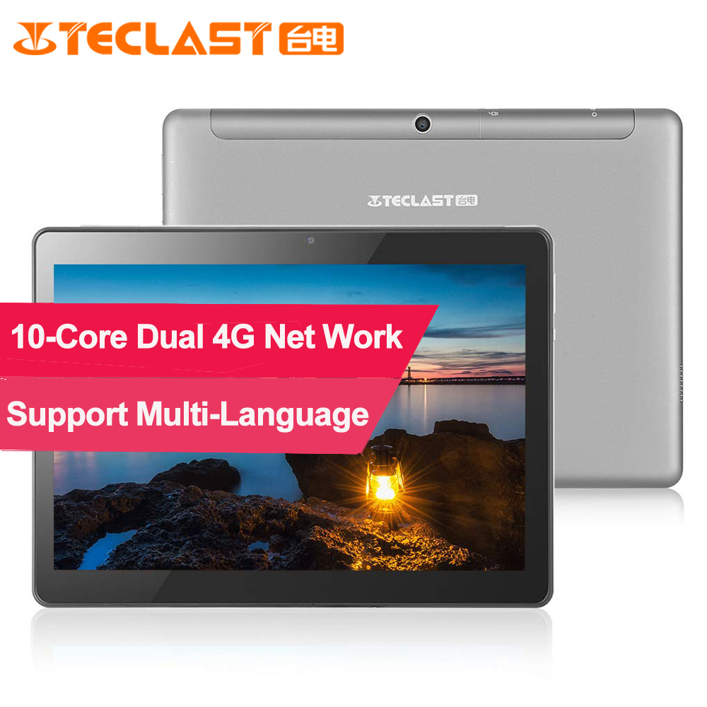 Teclast M20 MT6797D X23 Deca Core 3GB RAM 32GB Android 8.0 Dual 4G 10.1 Cal 1920*1200 GPS Phablet