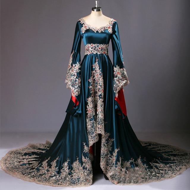 Real Sample 2015 Dubai Kaftan Appliqued Long Evening Gowns Caftan Abaya In Dubai  Long Sleeve Arabic Dress Muslim Evening Dress 7c0cb53d331e