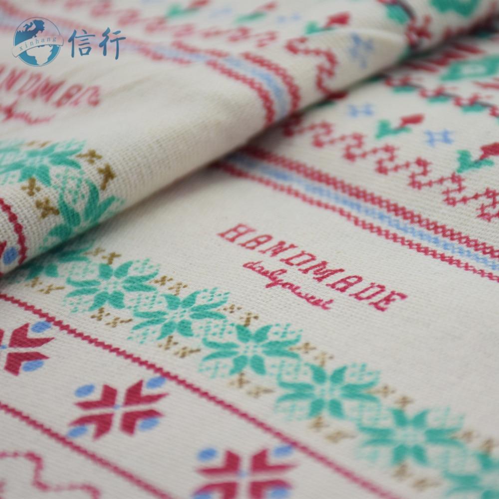 50 * 150 cm-es nyomtatott pamut vászonszövet Patchwork szőnyeg - Művészet, kézművesség és varrás