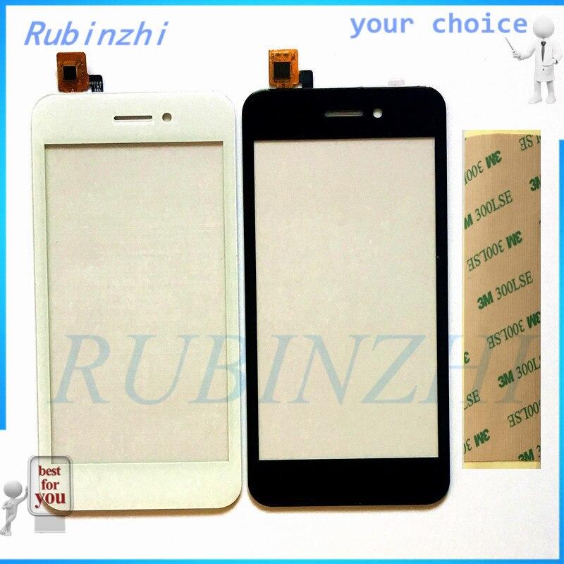 RUBINZHI + Fita Sensor de Toque do Painel de Toque Do Telefone Para A Mosca FS459 Nimbus 16 Tela Sensível Ao Toque Reparação Digitador Da Tela de Vidro Da Frente