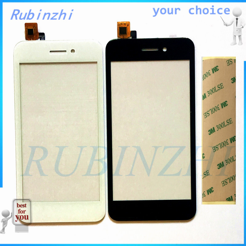 RUBINZHI + Tape Phone Touch Panel For Fly FS459 Nimbus 16 Sensor Touch Screen Digitizer Repair Parts Touchscreen Front Glass