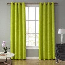 Sunnyrain 1-piece tela de gamuza verde cortinas para la sala cotinas vida de perforación semi cortinas blackout cortinas para el dormitorio