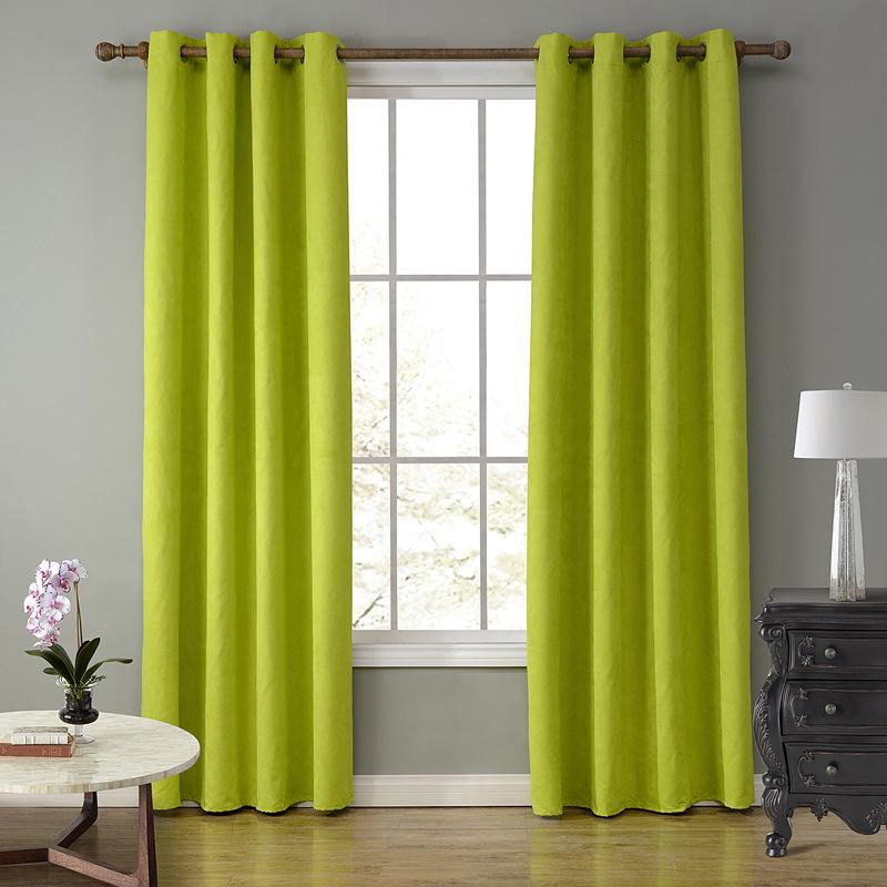 sunnyrain piece tela de gamuza verde cortinas para la sala cotinas vida de perforacin