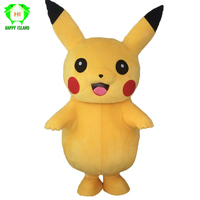 Pikachu Cosplay Costume Mascot Costumes Cartoon Pikachu Suits Character Costumes Party Men Mascot Costume for Adults