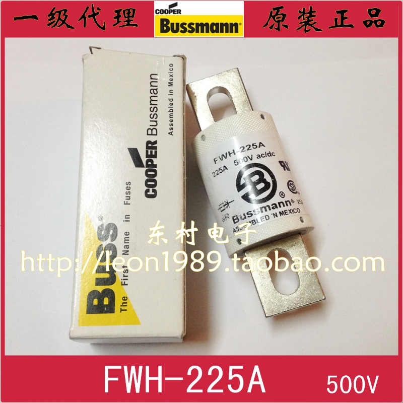 цены [SA]US Bussmann Fuses FWH-225A 225A 500V AC / DC fuses manufactured in Mexico