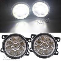 1 Set 12V Fog Lamps 9W For Mitsubishi L200 OUTLANDER 2 PAJERO 4 GALANT Grandis 6000K