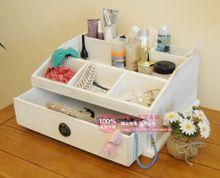 Corea del jardín de madera blanca caja de cosméticos caja de almacenamiento caja de pantalla de madera especiales