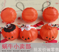 Halloween PU 3cm Small Pumpkin Mobile Phone Bag Hanging Pressure Small Toys Queeze Toys Squishy