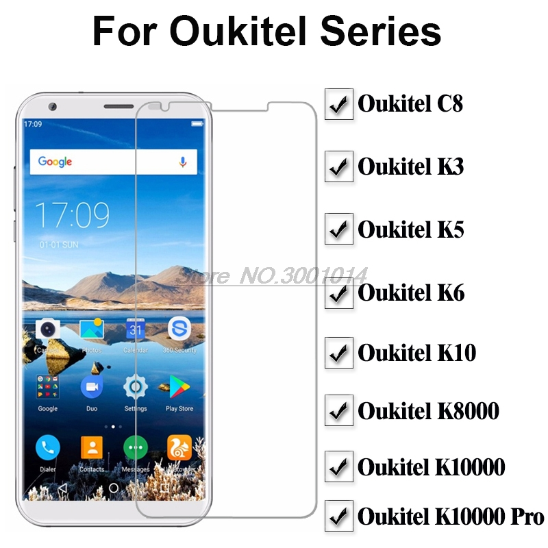 Mobile Phone LCD Film On <font><b>Oukitel</b></font> K10000 K10000 Pro Tempered Glass For <font><b>Oukitel</b></font> K3 K5 K6 K10 C8 <font><b>K8000</b></font> K10000 Pro <font><b>Screen</b></font> Protector image