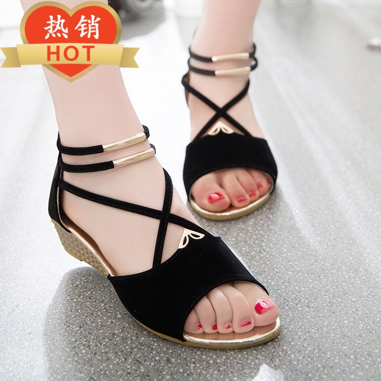 Summer Low Girls ' Sandals Korean Sweet Beautiful Fish