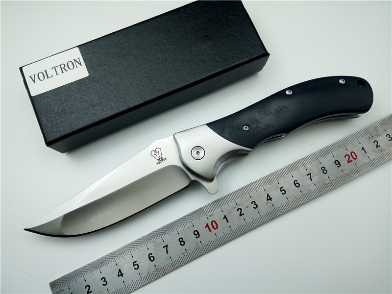 Folding Knife VOLTRON V05 9cr18mov blade G10 handle ball bearing flipper tactical knives utility camping outdoor survival knife цены