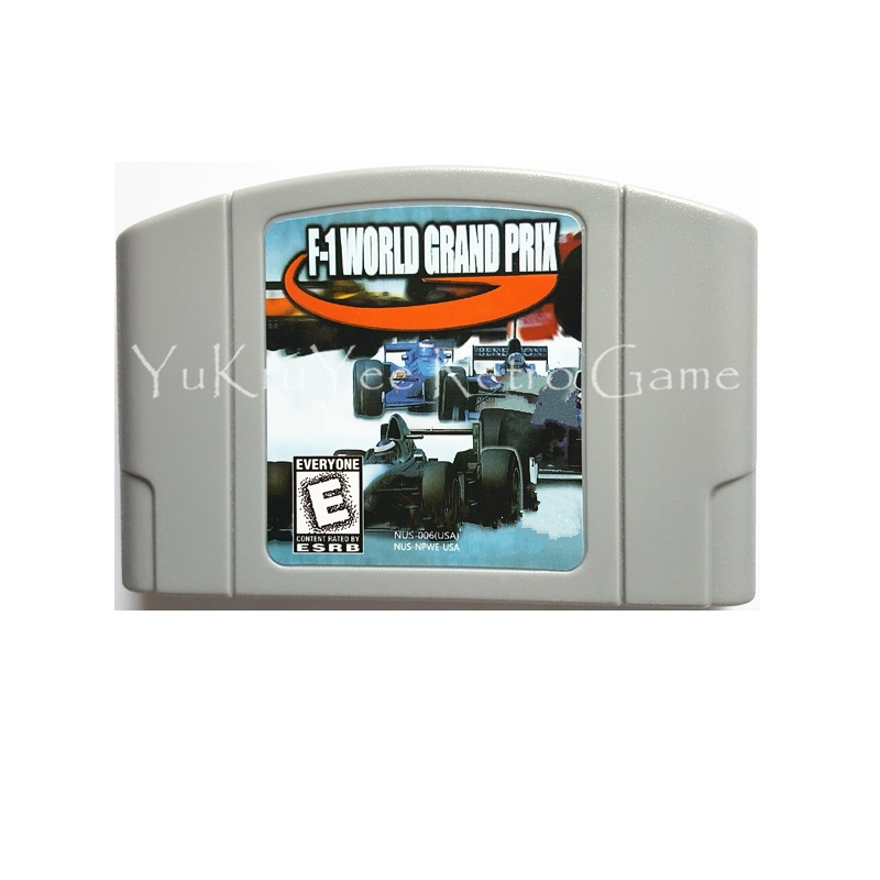 F-1 World Grand Prix Video Game Accessories Memory Cartridge Card for 64 Bit Console US NTSC Version N52