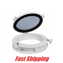 Boat anti-UV Porthole ABS Plastic White Round Hatches Replacement Windows Port Hole for RV yacht Glass window fittings