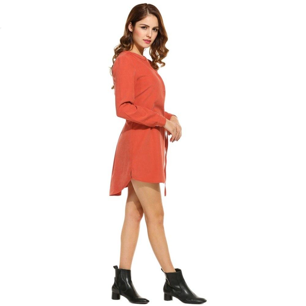 Autumn Mini Shirt Dress Long Sleeve Vestido Casual Winter Dresses