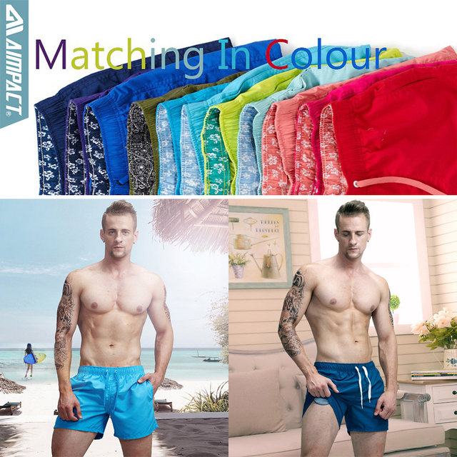 16a91108a5 Aimpact Quick Dry Board Shorts for Men Summer Casual Active Sexy BeachSurf  Swimi Shorts Man Athlete Gymi Home Hybird Trunks PF55