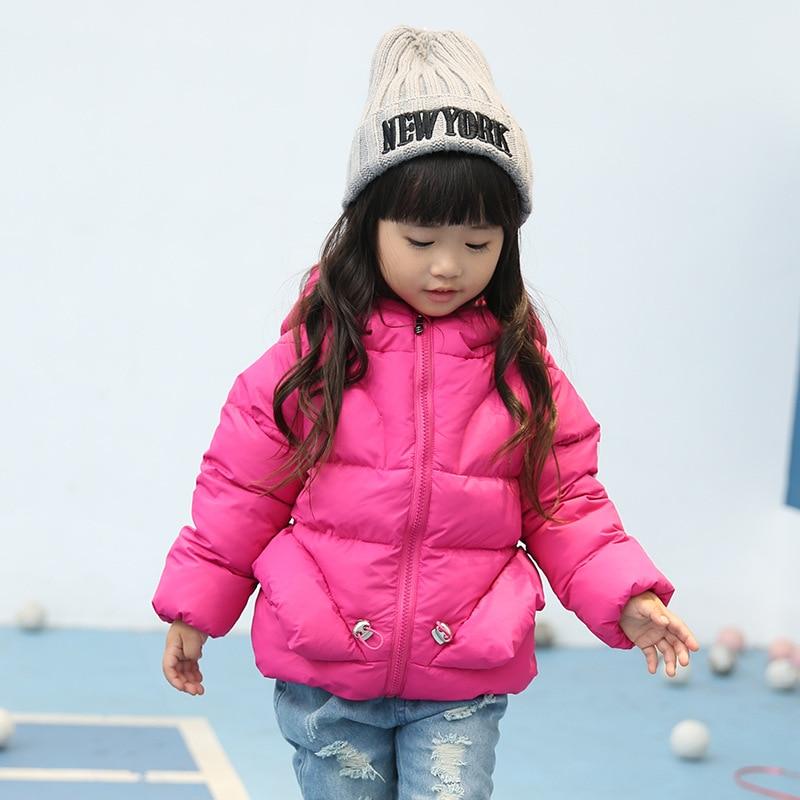 2016 new winter kids wear baby girls princess Outerwear hooded down warm coat jacket sweet style