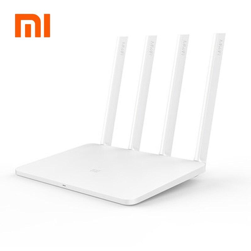 Prix pour Anglais Version Xiaomi Mi WIFI Routeur 3 11AC Double Bande 2.4/5G 1167 Mbps 128 M ROM/RAM APP Contrôle Externe USB de stockage