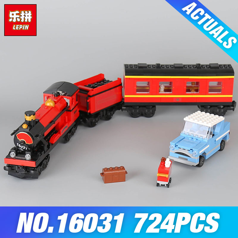 Lepin 16031 Funny The Hogwarts Express Set Toys 724Pcs Movie Series 4841 Building Blocks Bricks Educational Child DIY Model Gift lepin 16030 1340pcs movie series hogwarts city model building blocks bricks toys for children pirate caribbean gift