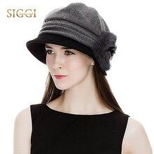 ea52236b53da9 FANCET invierno de las mujeres Fedora sombrero gorra redonda 1920 s  caliente cubo Flor de moda Vintage Gorros sombreros otoño 69.