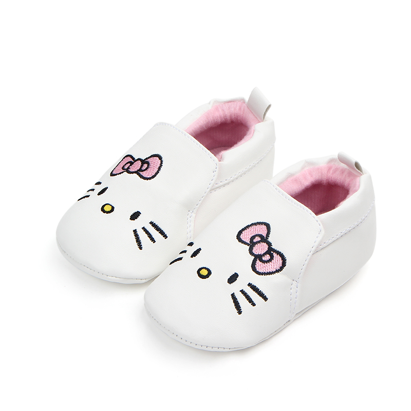New Cute Cartoon PU Leather Soft Sole Infant Newborn Baby Girl Toddler Casual Shoes For 0-15 Months