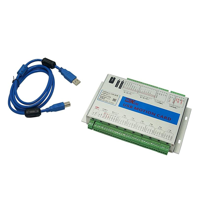 6 axes Mach3 carte de contrôle de mouvement USB roue à main sans fil pour bricolage CNC routeur fraiseuse - 2