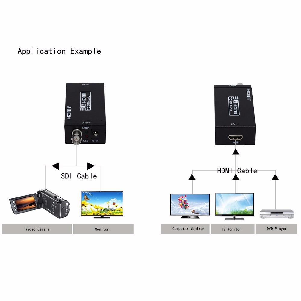 factory direct sales mini 3g 1080p hdmi to sdi sd sdi hd sdi 3g sdi hd video converter with power adapter in retail package 11.11 sale Mini HD 1080P Multimedia 3G HDMI to SDI Converter Adapter with BNC SDI/HD-SDI/3G-SDI Output ciecoo HDMI converters